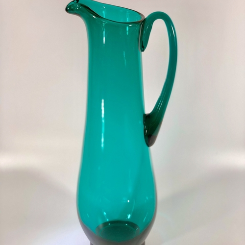 Extra tall Mid 20th Century glass cocktail or water jug