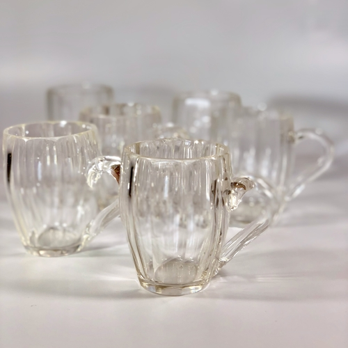 French slice cut crystal mini mugs