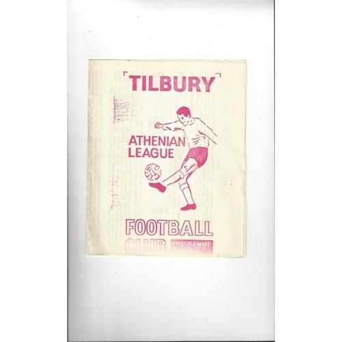 1969/70 Tilbury v Barking Essex Senior Cup Final Football Programme