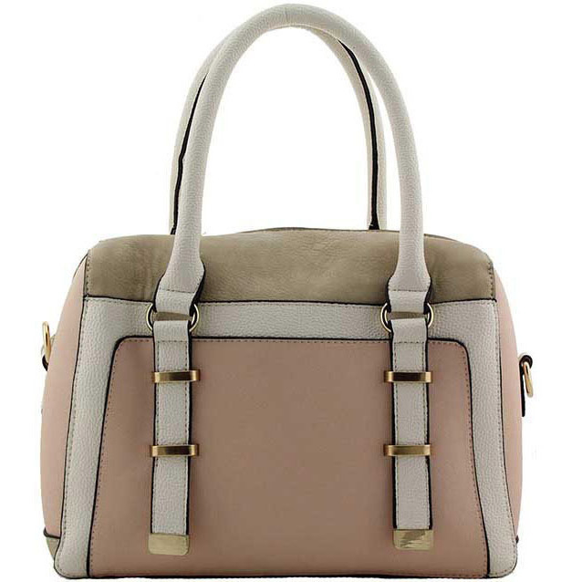 Colour Block Fashion handbag beige