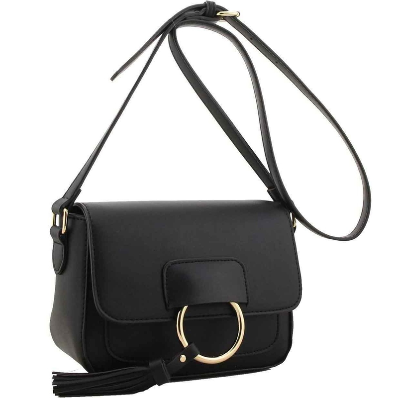 Verna fashion designer handbag black