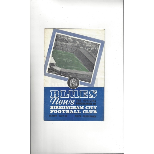Birmingham City Home Football Programmes