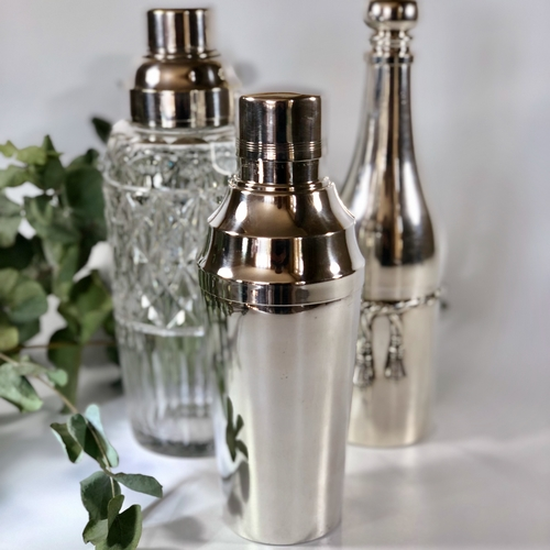 Art Deco French silver plated cocktail shaker