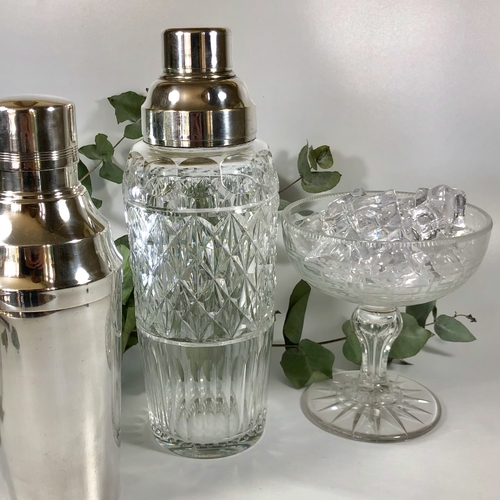 Val Saint Lambert crystal cocktail shaker