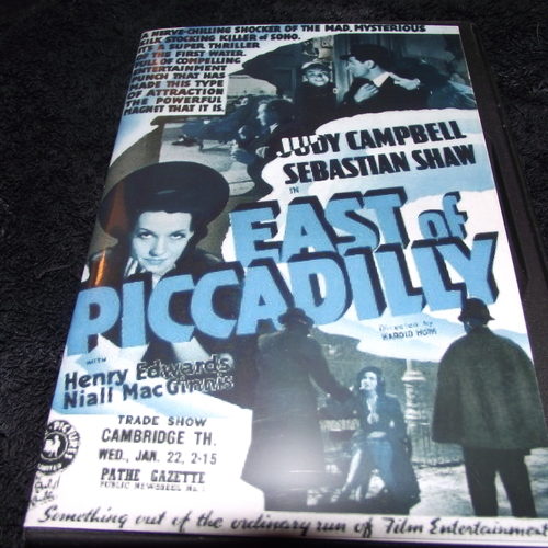 EAST OF PICCADILLY 1941 DVD