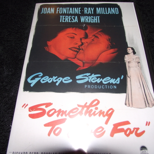 SOMETHING TO LIVE FOR 1952 DVD
