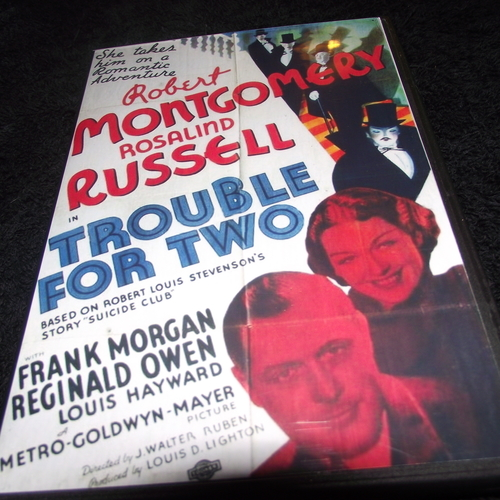 TROUBLE FOR TWO 1936 DVD