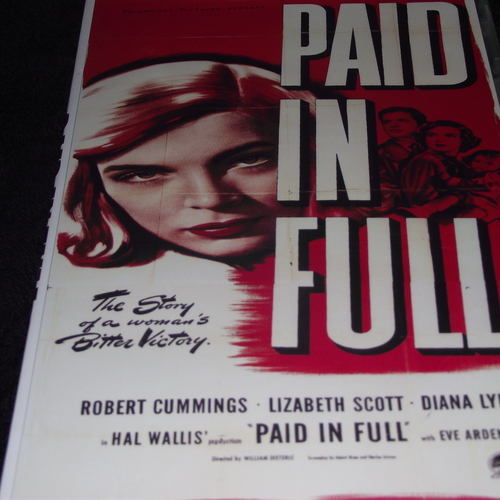 PAID IN FULL 1950 DVD