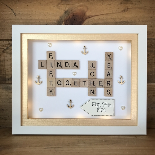 Nautical Anniversary scrabble word art