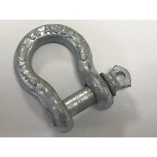 FS116-2 - M10 Gal Steel Bow Shackle to US Fed Spec 271 SWL 1.000 tonne