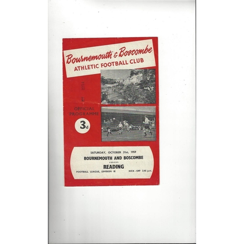 Bournemouth Home Football Programmes