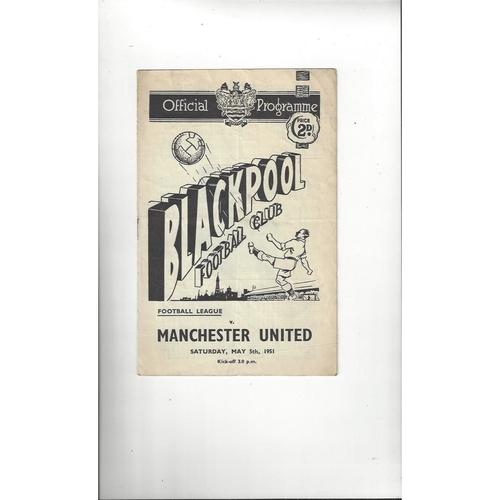 Blackpool Home Football Programmes