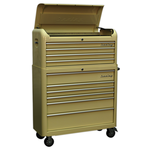 Retro Style Extra Wide Topchest & Rollcab Combination 10 Drawer - Sealey - AP41COMBO