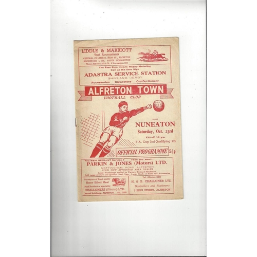 1971/72 Alfreton Town v Nuneaton Borough FA Cup Football Programme