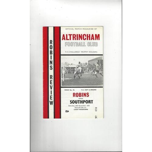 Altrincham v Southport FA Cup Football Programme 1978/79