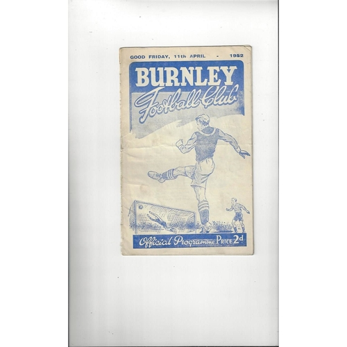 Burnley Home Football Programmes
