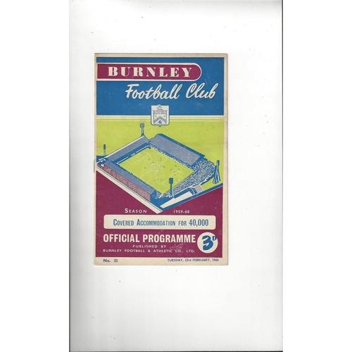1959/60 Burnley v Bradford City FA Cup Football Programme