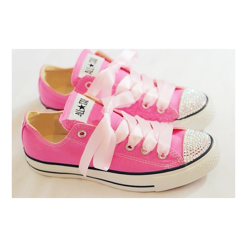bc241d70ffb1 Sparkly Bling Diamante Converse Trainers. We bling our converse ...