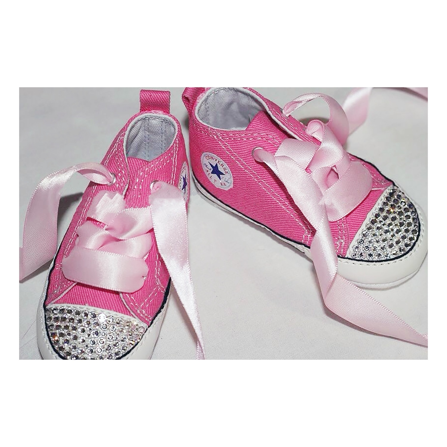 3467fcc4ed35 Swarovski Crystal Sparkly Bling Converse Trainers (Baby - Any Colour ...