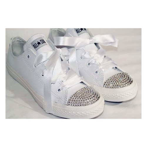 95def6521279 Sparkly Bling Diamante Converse Trainers. We bling our converse ...