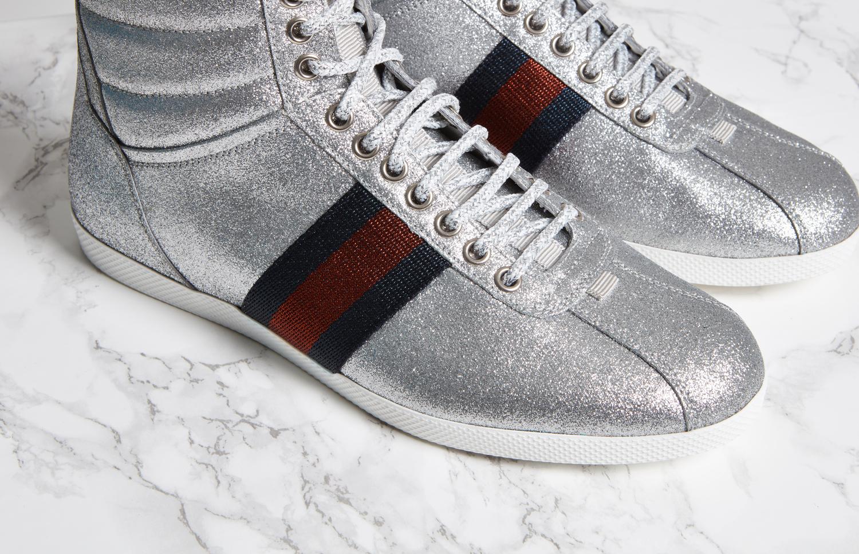 Gucci Bambi Glitter High Top Sneakers