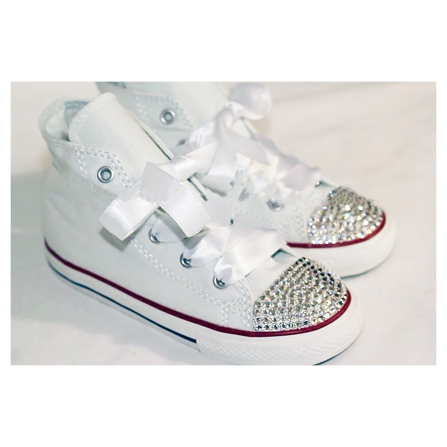 79be876e7880 Swarovski Crystal Sparkly Bling Converse Trainers (Children s High Top -  Any Colour)