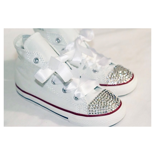 927cd1cc85d4 Swarovski Crystal Sparkly Bling Converse Trainers (Children s High Top -  Any Colour)