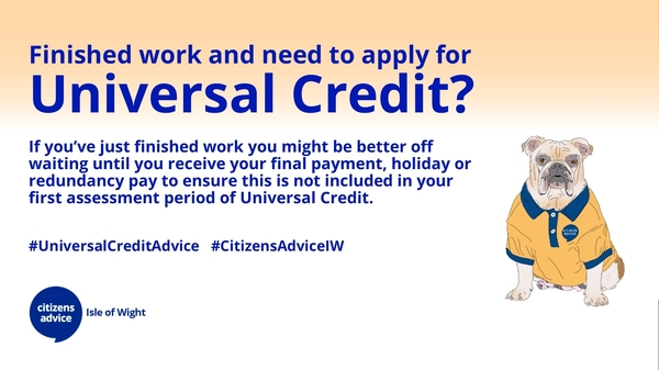 Finished work and need to apply for Universal Credit?