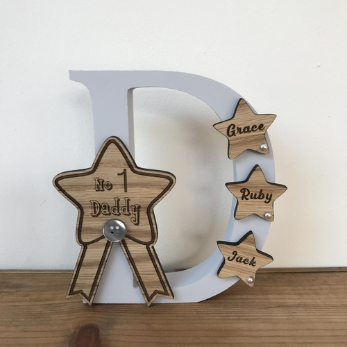 NO1 DADDY freestanding letter