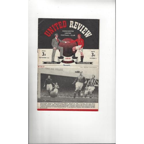 1949/50 Manchester United v Manchester City Football Programme