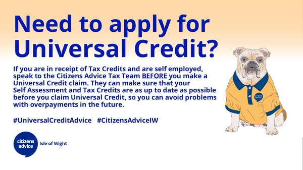 Self employed and need to apply for Universal Credit?