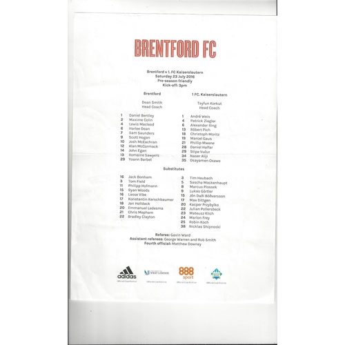 Team Sheets
