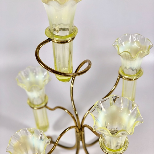 Glass & gilded epergne centrepiece Circa 1890