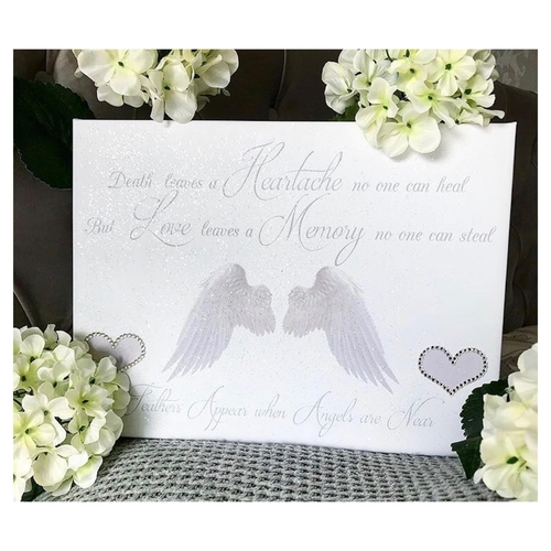 Glitter Memory Angel Wing Canvas