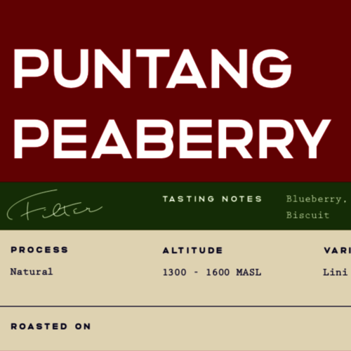 Puntang Peaberry