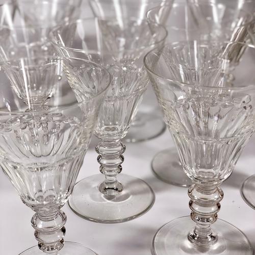 11 Art Deco Val St Lambert wine goblets