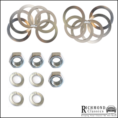 Classic Mini Ball Joint Replacement Nut, Washer and Shims Pack FNZ507, 2A4242