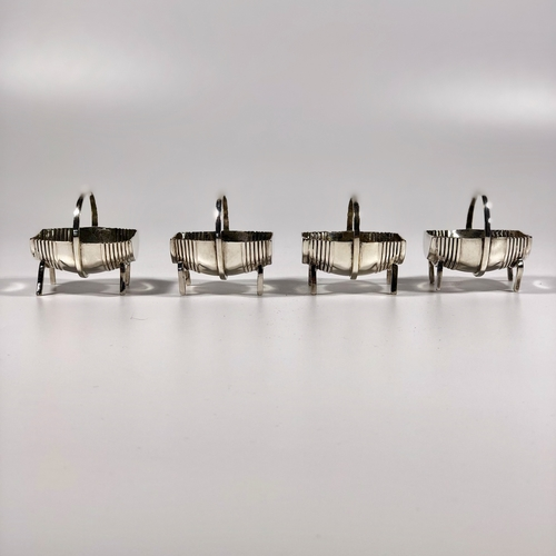 Set of four miniature barrel dishes