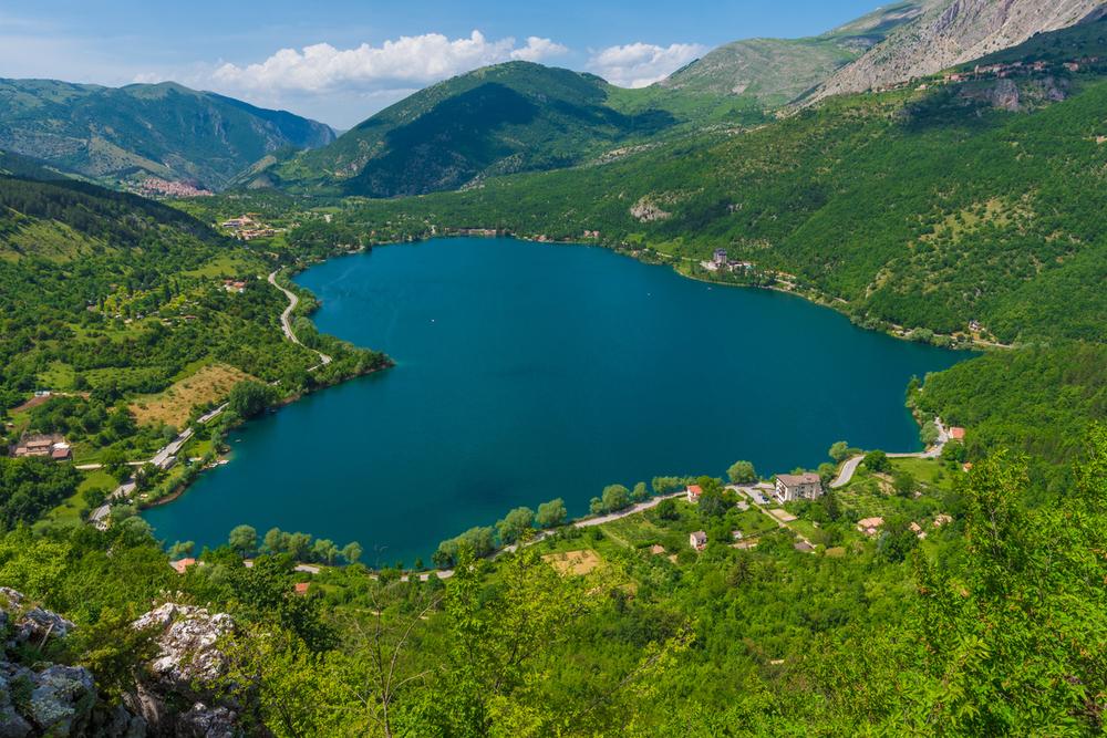 Heart Shaped Italian Mountain Lake