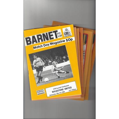 15 Barnet home Football Programmes 1988/89 to 2006/07