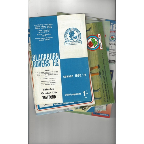 12 Blackburn Rovers home Football Programmes 1970/71 - 2015/16