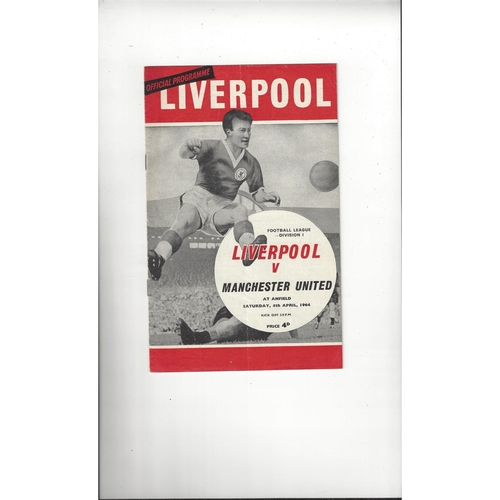 1963/64 Liverpool v Manchester United Football Programme