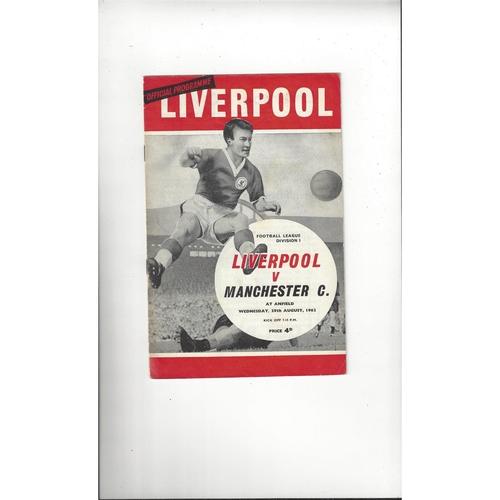 1962/63 Liverpool v Manchester City Football Programme