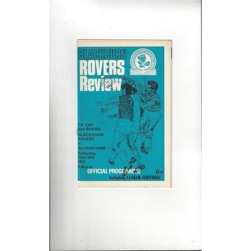 Blackburn Rovers v Altrincham FA Cup Football Programme 1973/74