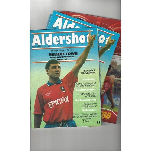 20 Aldershot home League Football Programmes 1970/71 - 2008/09