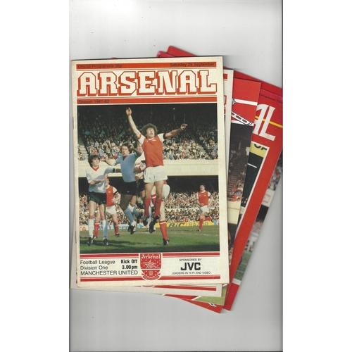 13 Arsenal Home Football Programmes 1981/82 - 1999/00