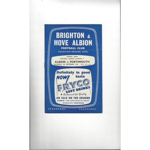 1959/60 Brighton v Portsmouth Football Programme