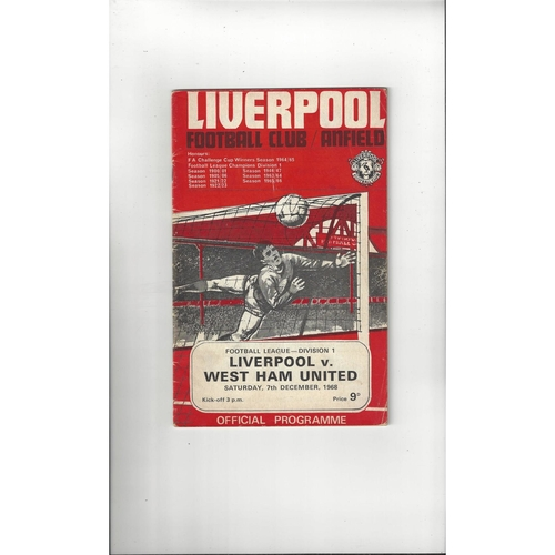 Liverpool Home Football Programmes