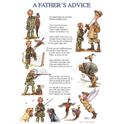 "Bryn Parry ""A Fathers Advice"" Greeting Card"