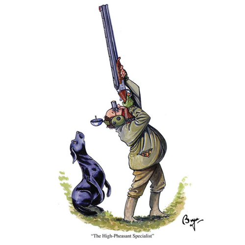 "Bryn Parry ""High Pheasant Specialist"" Greeting Card"